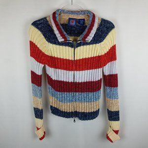 Next Era sweater color block zip front S